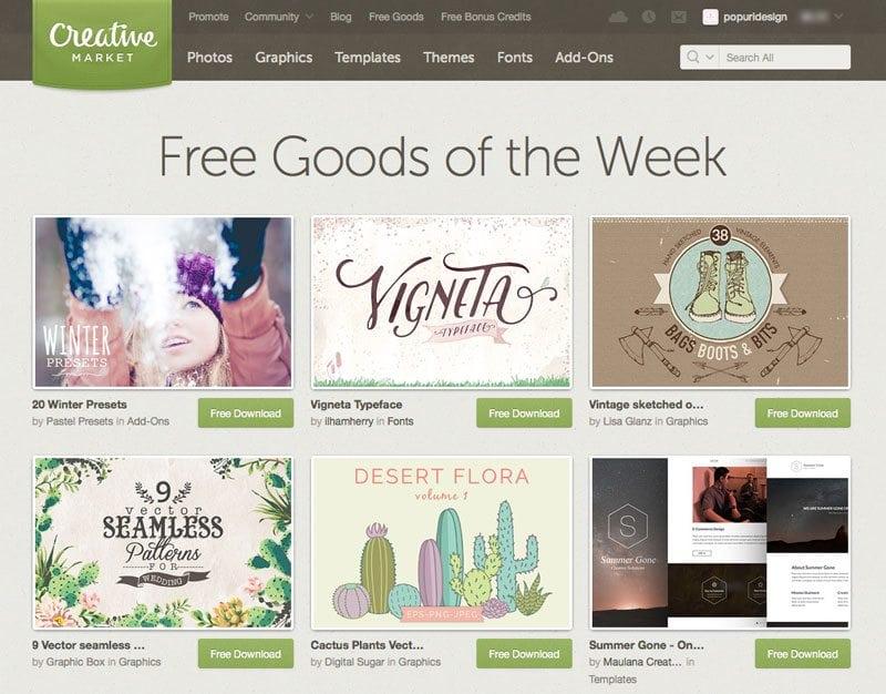 Free Goods Creative Market