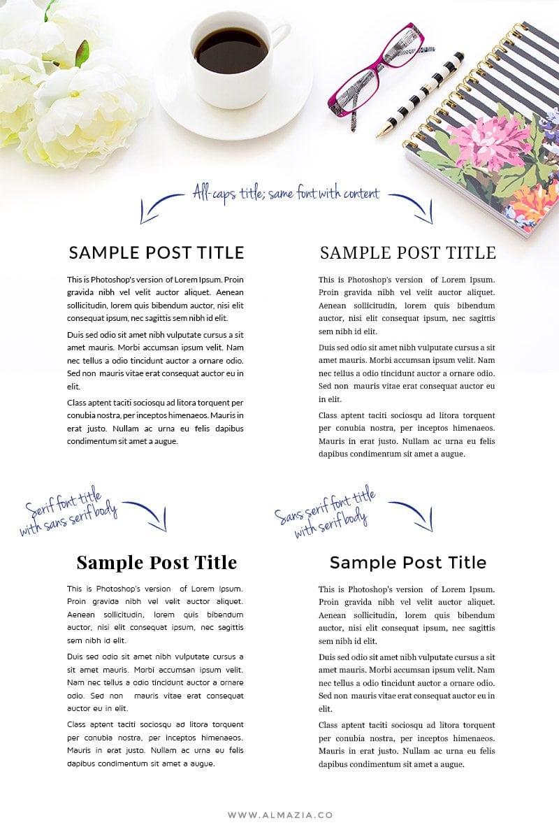 Contoh font pairing untuk blog