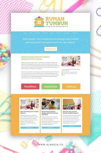 Rumah Tumbuh Montessori Home Daycare | Desain website & marketing collaterals