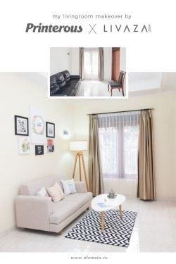 My Livingroom Makeover by Printerous & Livaza