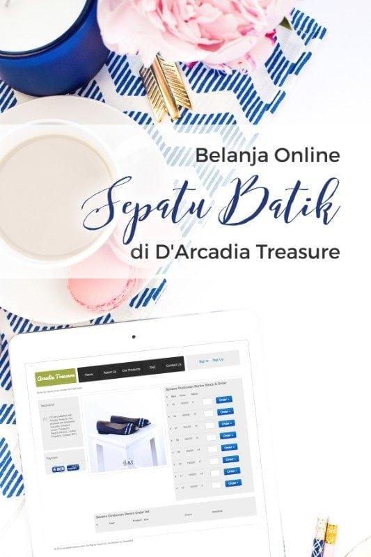Belanja Sepatu Batik Online di DArcadia Treasure