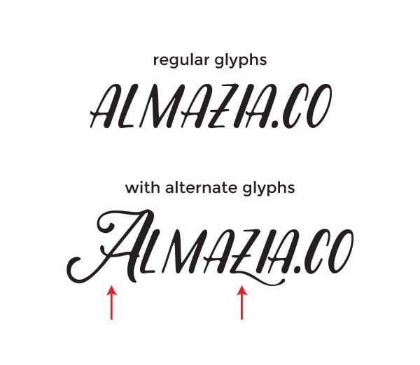 regular-and-alternate-glyphs