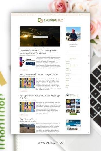 Desain Blog Evrinasp.com – Behind The Scene