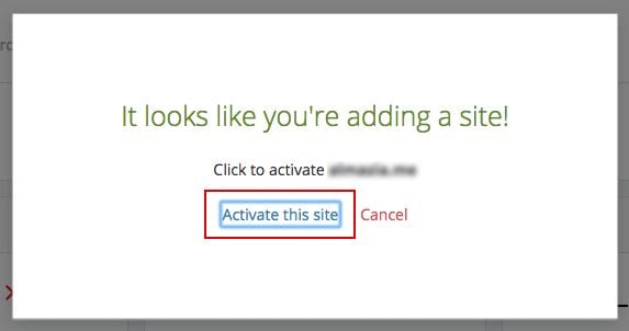 "Klik ""Activate this site""."