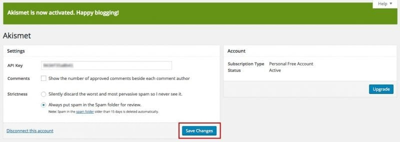"Selesai ^^ Mulai sekarangAkismet akan memfilter komentar yang masuk, yang dianggap spam akan masuk ke folder spam. Sebaiknya beberapa ahri sekali kita cek ke folder spam comments, siapa tahu ada komentar ""beneran"" nyelip ke sana. Komentar yang ada di folder spam selama 15 hari otomatis akan dihapus."