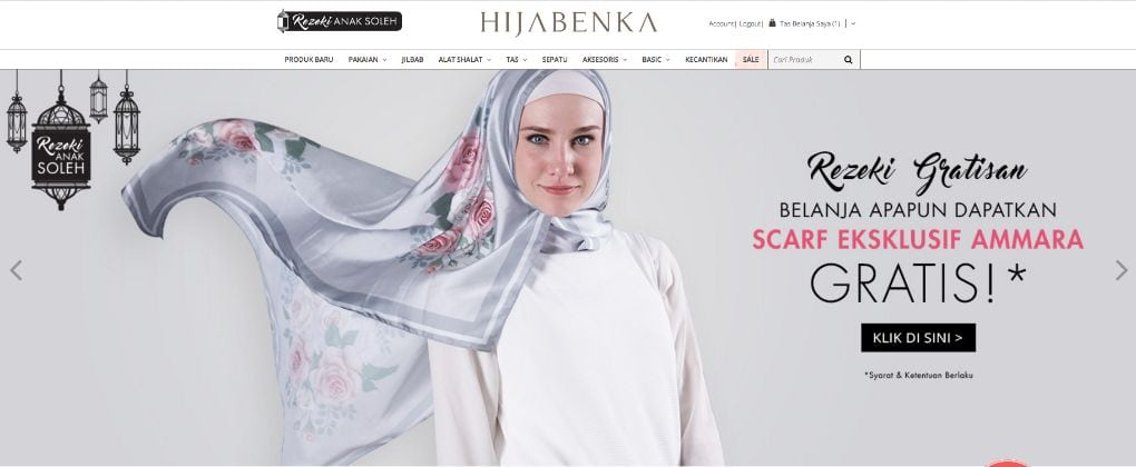 Hijabenka muslim fashion ecommerce