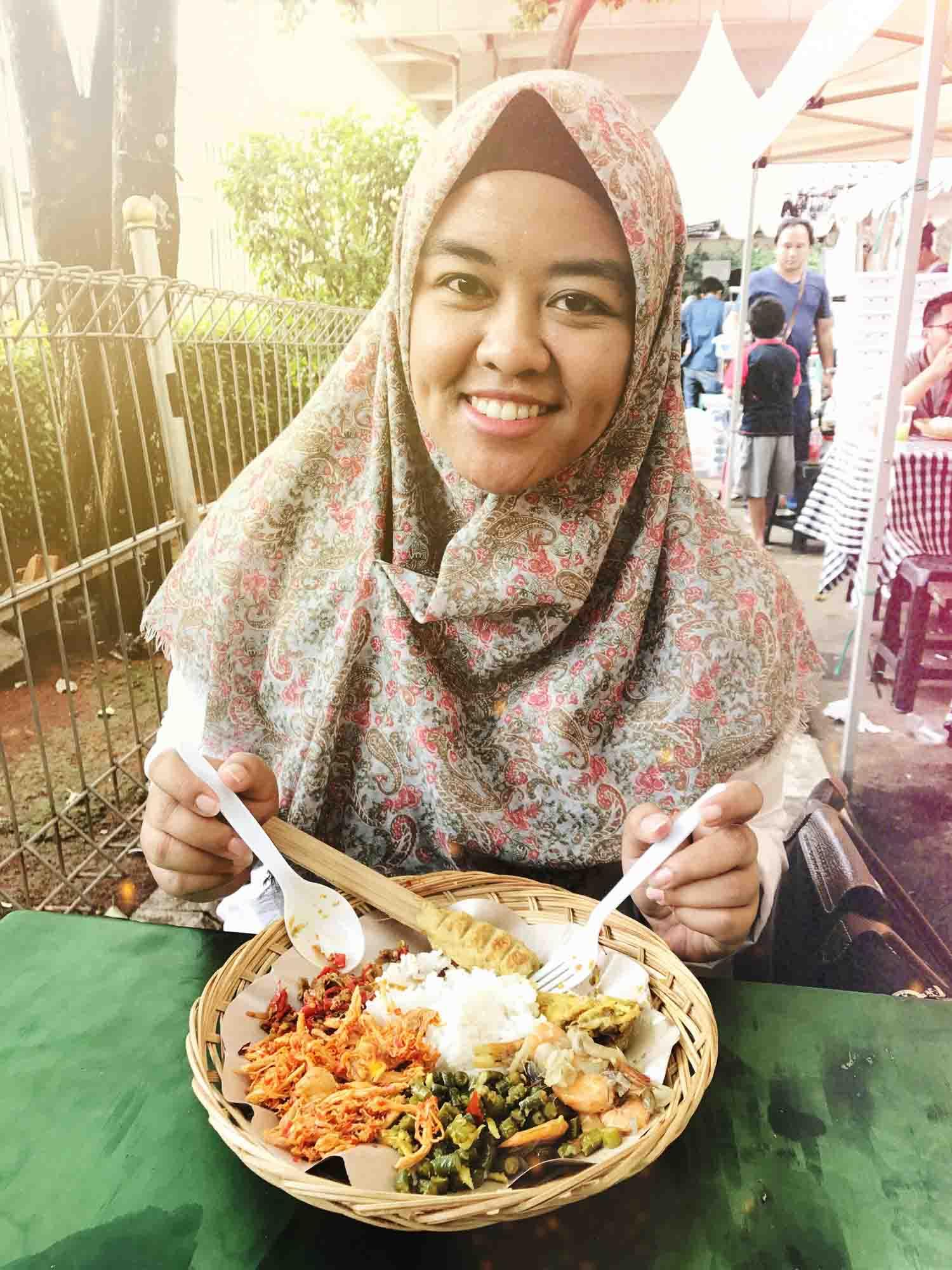 Makan siang nasi bali Inacraft 2017