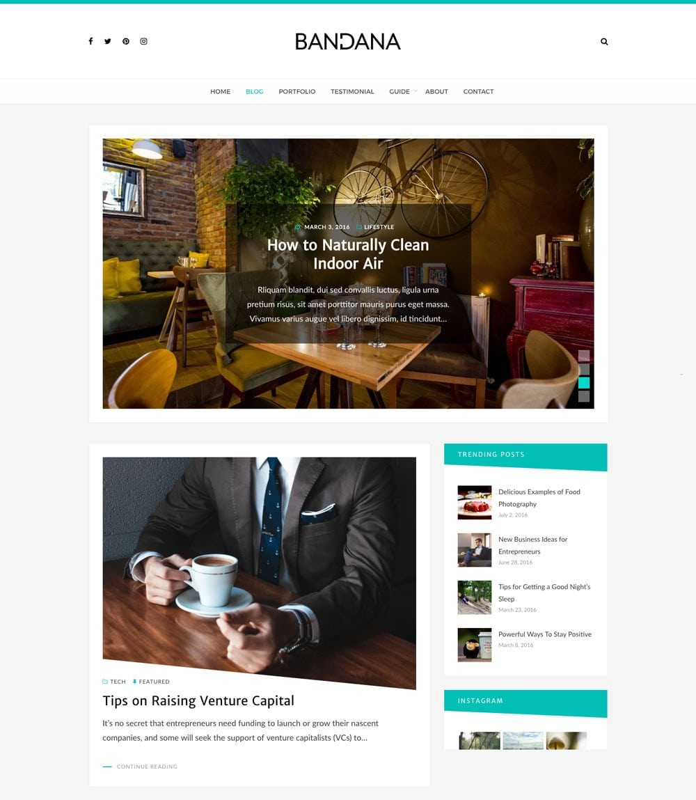 Bandana Free Simple and Clean WordPress Themes For Your Blog