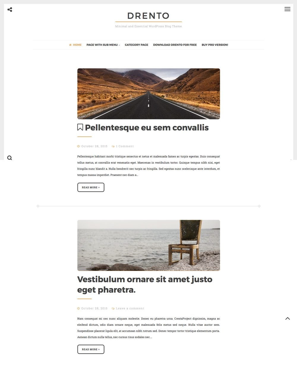 Drento Free Simple and Clean WordPress Themes For Your Blog