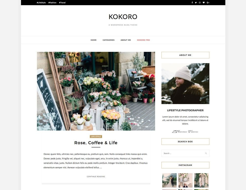 Kokoro-Lite-Free-Simple-and-Clean-WordPress-Themes-For-Your-Blog