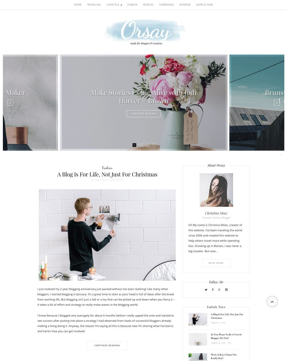 Orsay Free Simple and Clean WordPress Themes For Your Blog