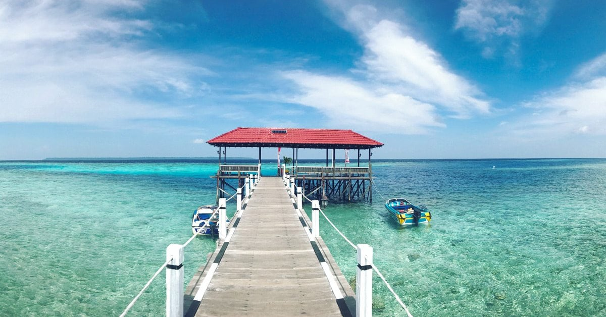 Pantai Pulau Maratua, Kalimantan Timur