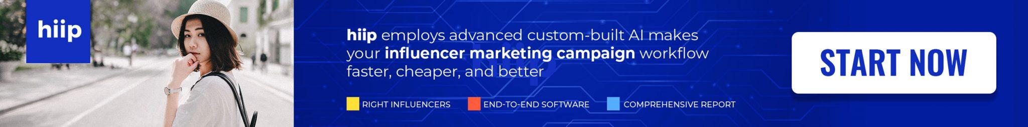 Hiip - Influencer Marketing Platform with Artificial Intelligence